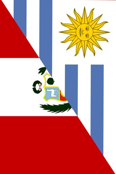 URUGUAY Y PERÚ  BANDERAS