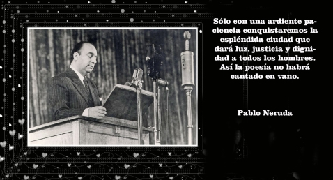 PABLO NERUDA EN LECTURE PUBLIQUE LORS DE SA VISITE EN URSS EN 1950_副本