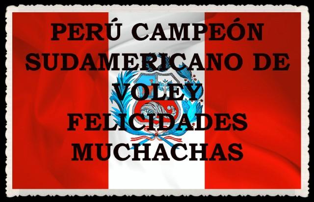 PER{U CAMPEON SUDAMERICANO DE VOLEY