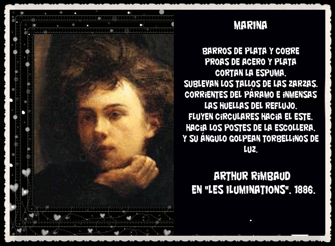 Frases y poemas ilustrados de Arthur Rimbaud el poeta