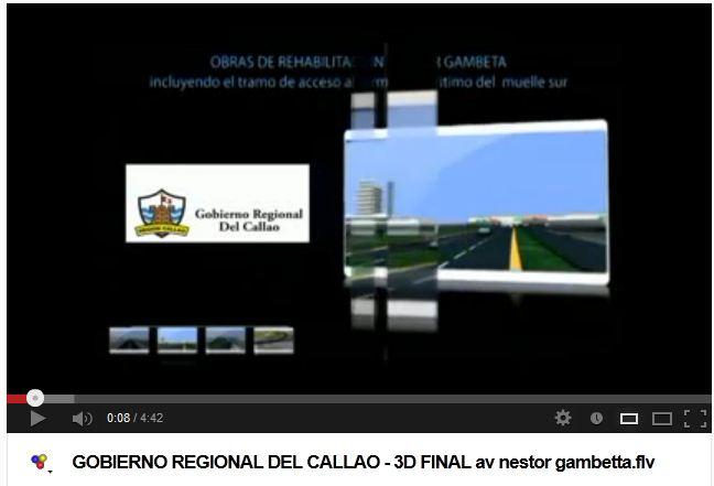 GOBIERNO REGIONAL DEL CALLAO TRABAJOS DE LA AV. NESTOR  GAMBETA