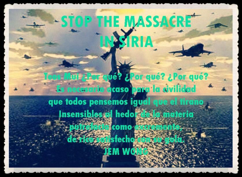 NO A LA MASACRE EN SIRIA  (12)