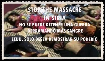 NO A LA MASACRE EN SIRIA  (2)