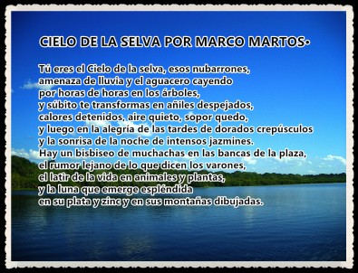 CIELO DE LA SELVA POR MARCO MARTOS CARRERA POETA PERUANO·