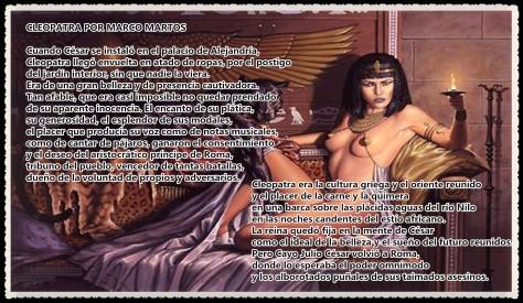 Cleopatra POR MARCO MARTOS CARRERA POETA PERUANO