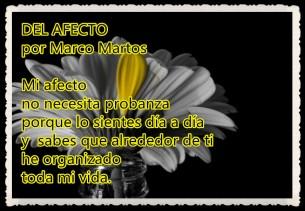 DEL AFECTO POR MARCO MARTOS CARRERA POETA PERUANO