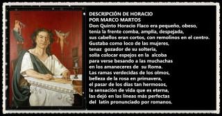 DESCRIPCIÓN DE HORACIO POR MARCO MARTOS CARRERA POETA PERUANO