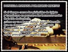 DONCELLA ROMANA POR MARCO MARTOS CARRERA POETA PERUANO