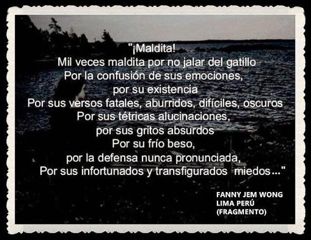 FANNY JEM WONG -FRAGMENTOS DE POESÍA- POETA PERUANA (10)