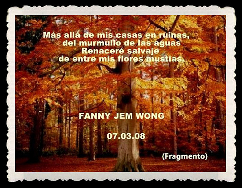 FANNY JEM WONG -FRAGMENTOS DE POESÍA- POETA PERUANA (105)