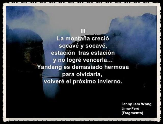 FANNY JEM WONG -FRAGMENTOS DE POESÍA- POETA PERUANA (108)