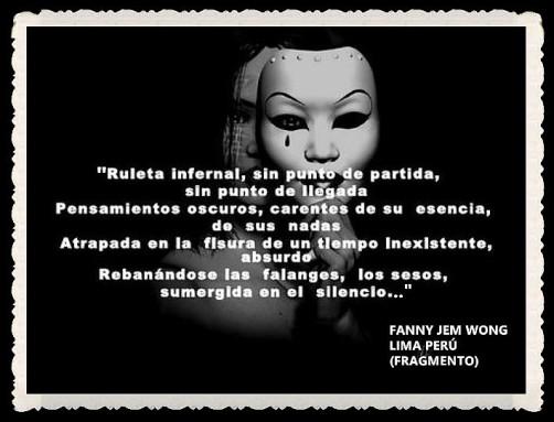 FANNY JEM WONG -FRAGMENTOS DE POESÍA- POETA PERUANA (14)