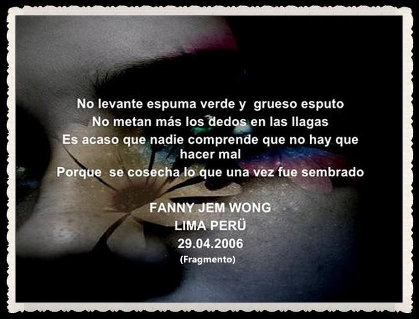 FANNY JEM WONG -FRAGMENTOS DE POESÍA- POETA PERUANA (2)