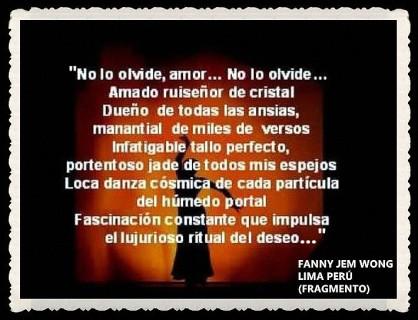 FANNY JEM WONG -FRAGMENTOS DE POESÍA- POETA PERUANA (20)