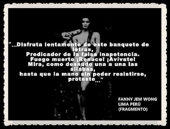 FANNY JEM WONG -FRAGMENTOS DE POESÍA- POETA PERUANA (26)