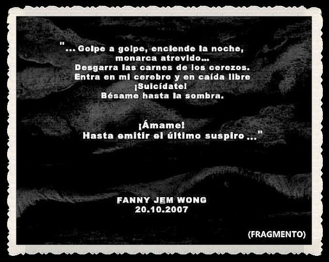 FANNY JEM WONG -FRAGMENTOS DE POESÍA- POETA PERUANA (29)
