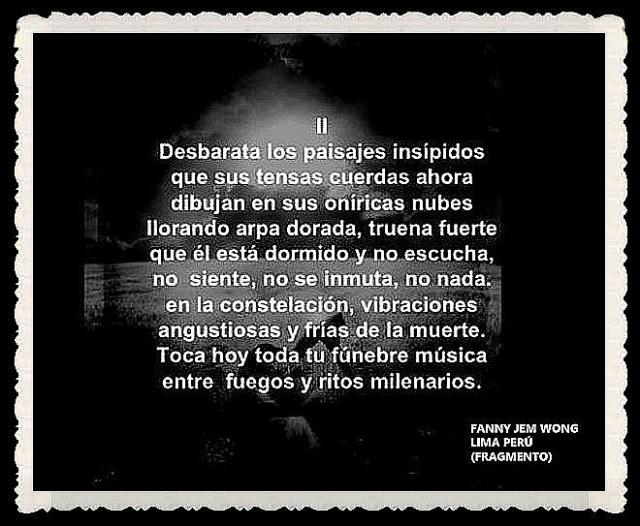 FANNY JEM WONG -FRAGMENTOS DE POESÍA- POETA PERUANA (35)