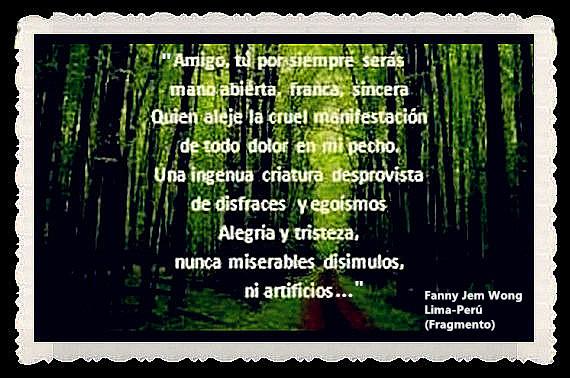 FANNY JEM WONG -FRAGMENTOS DE POESÍA- POETA PERUANA (4)
