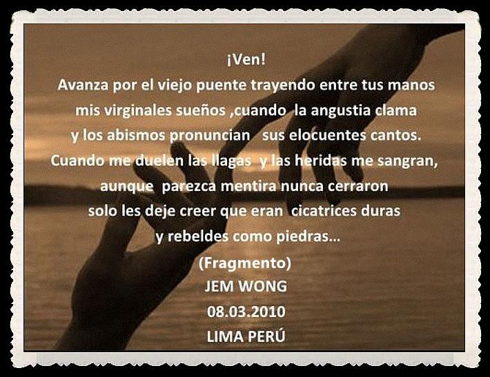 FANNY JEM WONG -FRAGMENTOS DE POESÍA- POETA PERUANA (46)