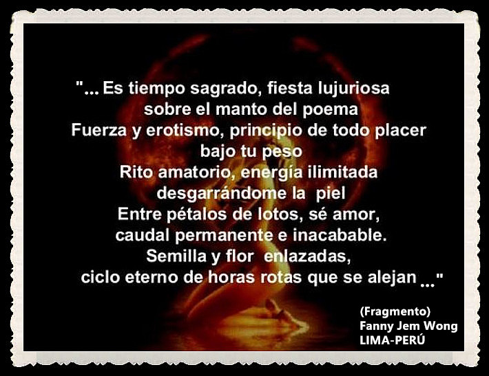 FANNY JEM WONG -FRAGMENTOS DE POESÍA- POETA PERUANA (50)