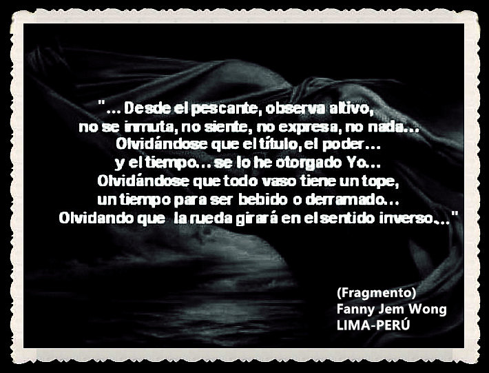 FANNY JEM WONG -FRAGMENTOS DE POESÍA- POETA PERUANA (59)