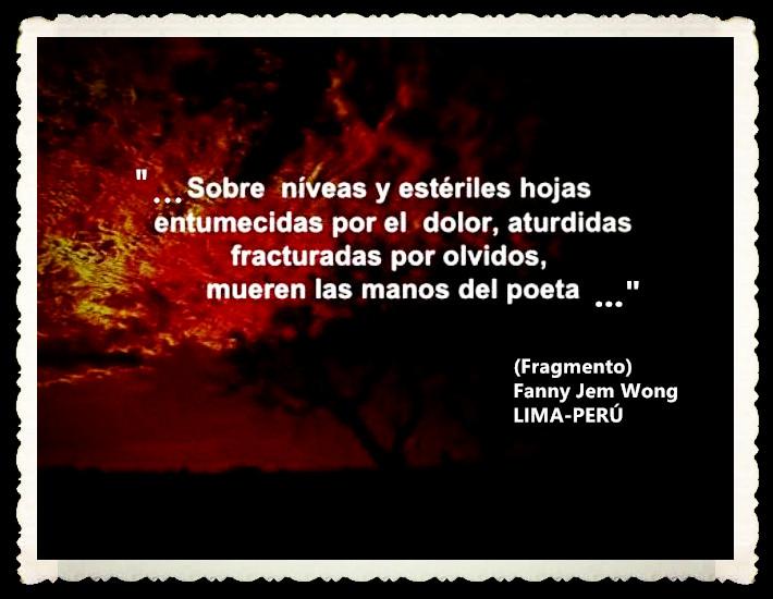 FANNY JEM WONG -FRAGMENTOS DE POESÍA- POETA PERUANA (62)