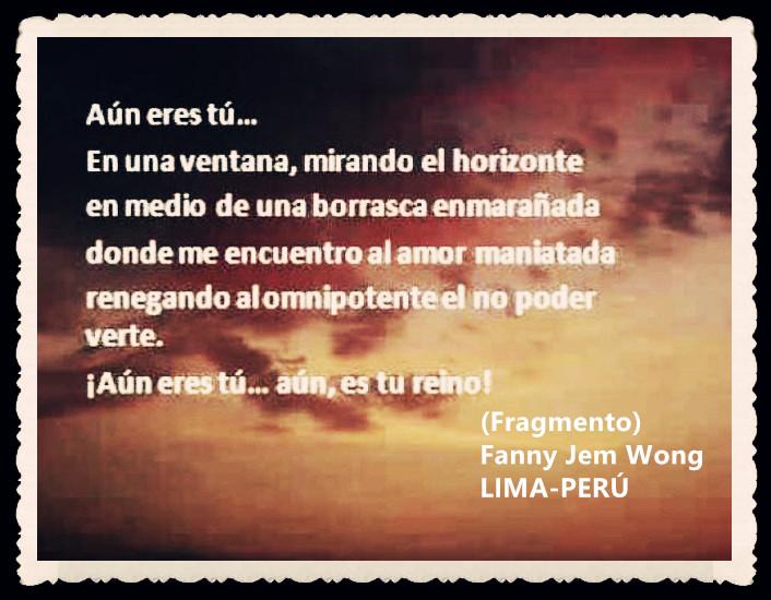 FANNY JEM WONG -FRAGMENTOS DE POESÍA- POETA PERUANA (66)