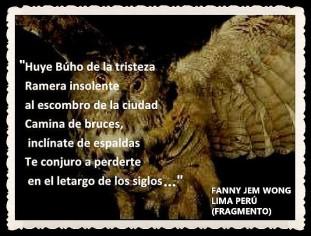 FANNY JEM WONG -FRAGMENTOS DE POESÍA- POETA PERUANA (7)