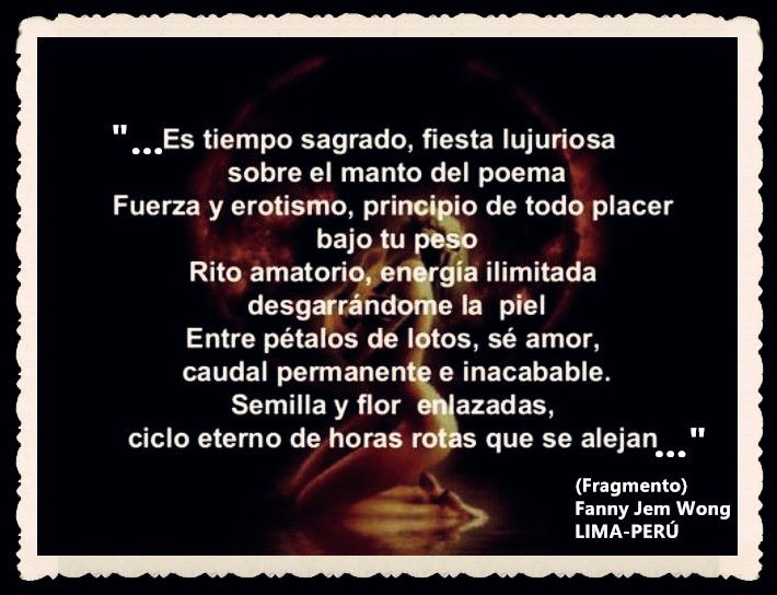 FANNY JEM WONG -FRAGMENTOS DE POESÍA- POETA PERUANA (84)
