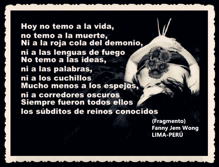 FANNY JEM WONG -FRAGMENTOS DE POESÍA- POETA PERUANA (90)