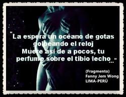 FANNY JEM WONG -FRAGMENTOS DE POESÍA- POETA PERUANA (98)