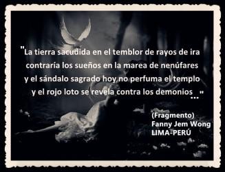 FANNY JEM WONG -FRAGMENTOS DE POESÍA- POETA PERUANA (99)