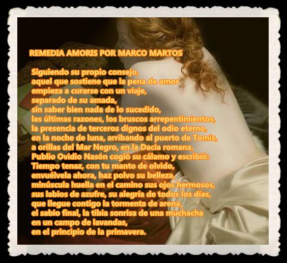 POEMA  : REMEDIA AMORIS POR MARCO MARTOS CARRERA