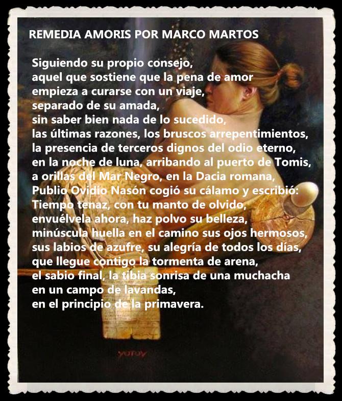 POEMA REMEDIA AMORIS POR MARCO MARTOS