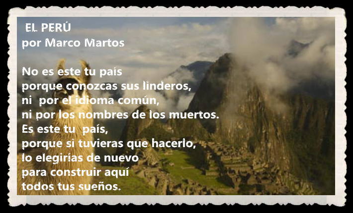 POEMA EL PERÚ POR MARCO MARTOS