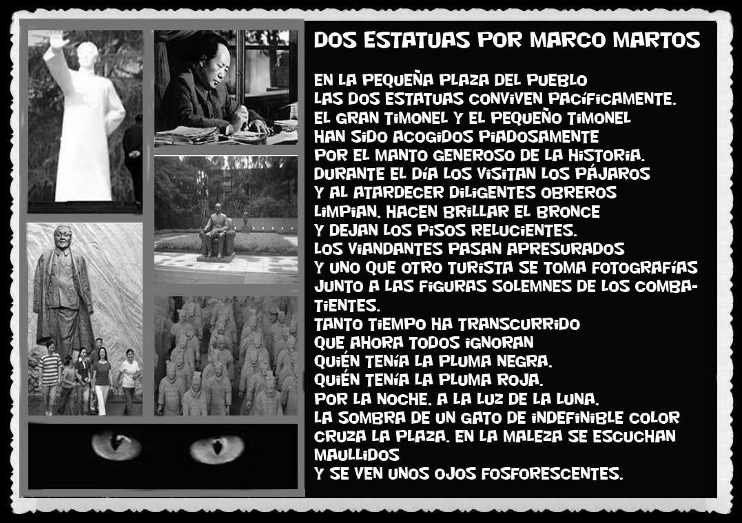 POEMAS  DE MARCO MARTOS UNMSM, DOS ESTATUAS