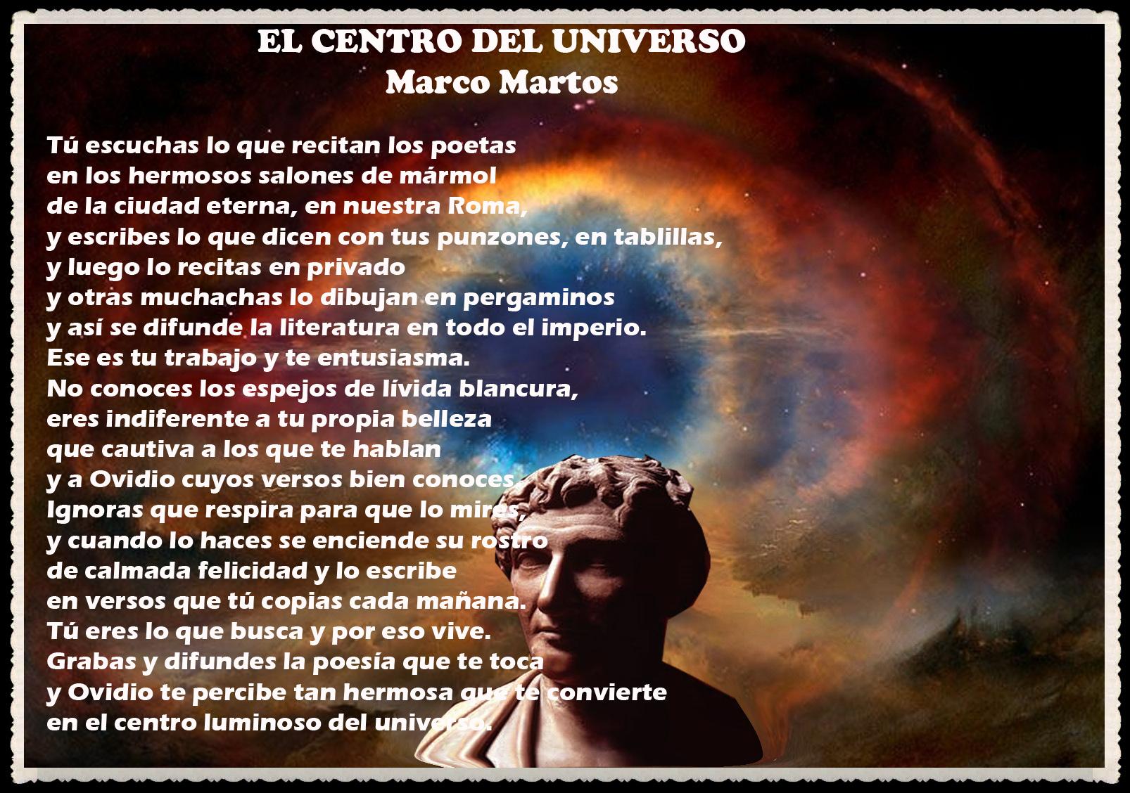POEMA  : EL CENTRO DEL UNIVERSO POR EL DR MARCO MARTOS UNMSM