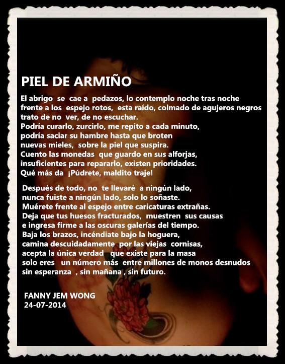 POEMA : PIEL DE ARMIÑO POR FANNY JEM WONG