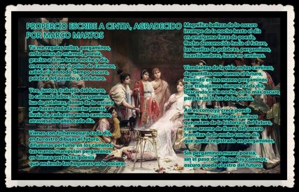 PROPERCIO ESCRIBE A CINTIA, AGRADECIDO POR MARCO MARTOS (2)