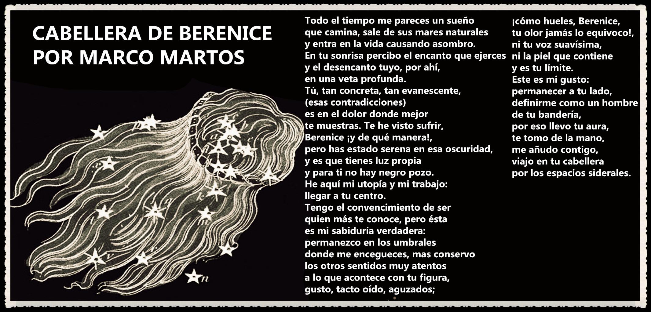 POEMA CABELLERA DE BERENICE POR MARCO MARTOS