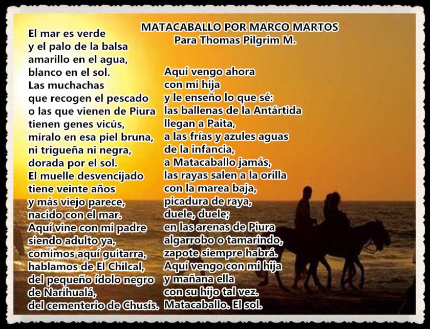 POEMAS DE MARCO MARTOS UNMSM- PIURA
