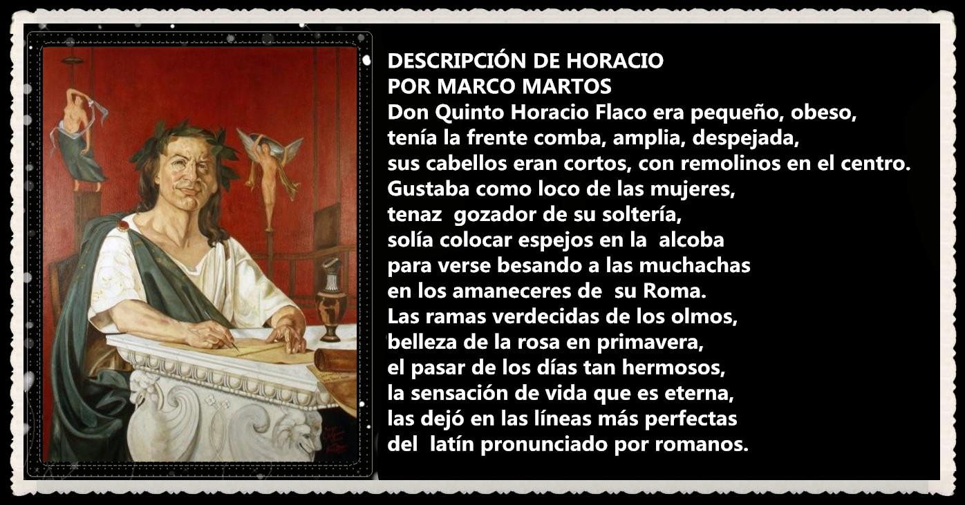 DESCRIPCIÓN DE HORACIO POR MARCO MARTOS