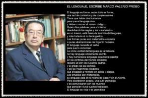 EL LENGUAJE ESCRIBE MARCO VALERIO PROBO POR MARCO MARTOS