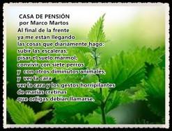 CASA DE PENSIÓN POR MARCO MARTOS - POETA PERUANO