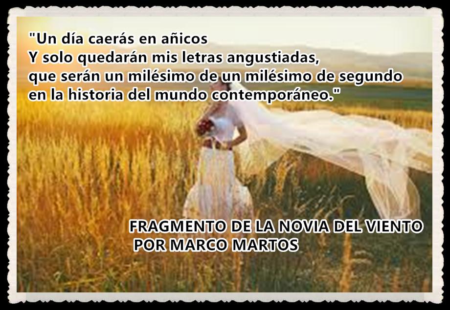 LA NOVIA DEL VIENTO POR MARCO MARTOS Y OTROSPOEMAS