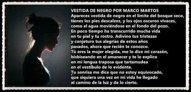 VESTIDA DE NEGRO POR MARCO MARTOS