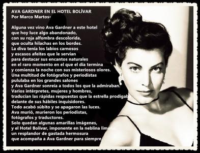 AVA GARDNER EN EL HOTEL BOLÍVAR POR MARCO MARTOS