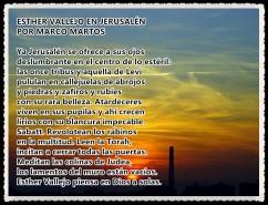ESTHER VALLEJO EN JERUSALEN POR MARCO MARTOS