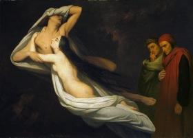 Ary_Scheffer_-_Francesca_da_Rimini_en_Paolo_Malatesta_aanschouwd_door_Dante_en_Vergilius_1854