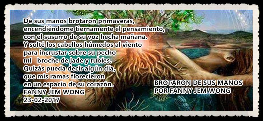 BROTARON DE SUS MANOS POR FANNY JEMWONG